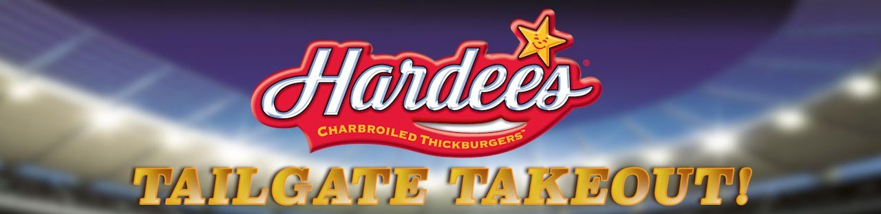 Hardee's Tailgate Takeout header