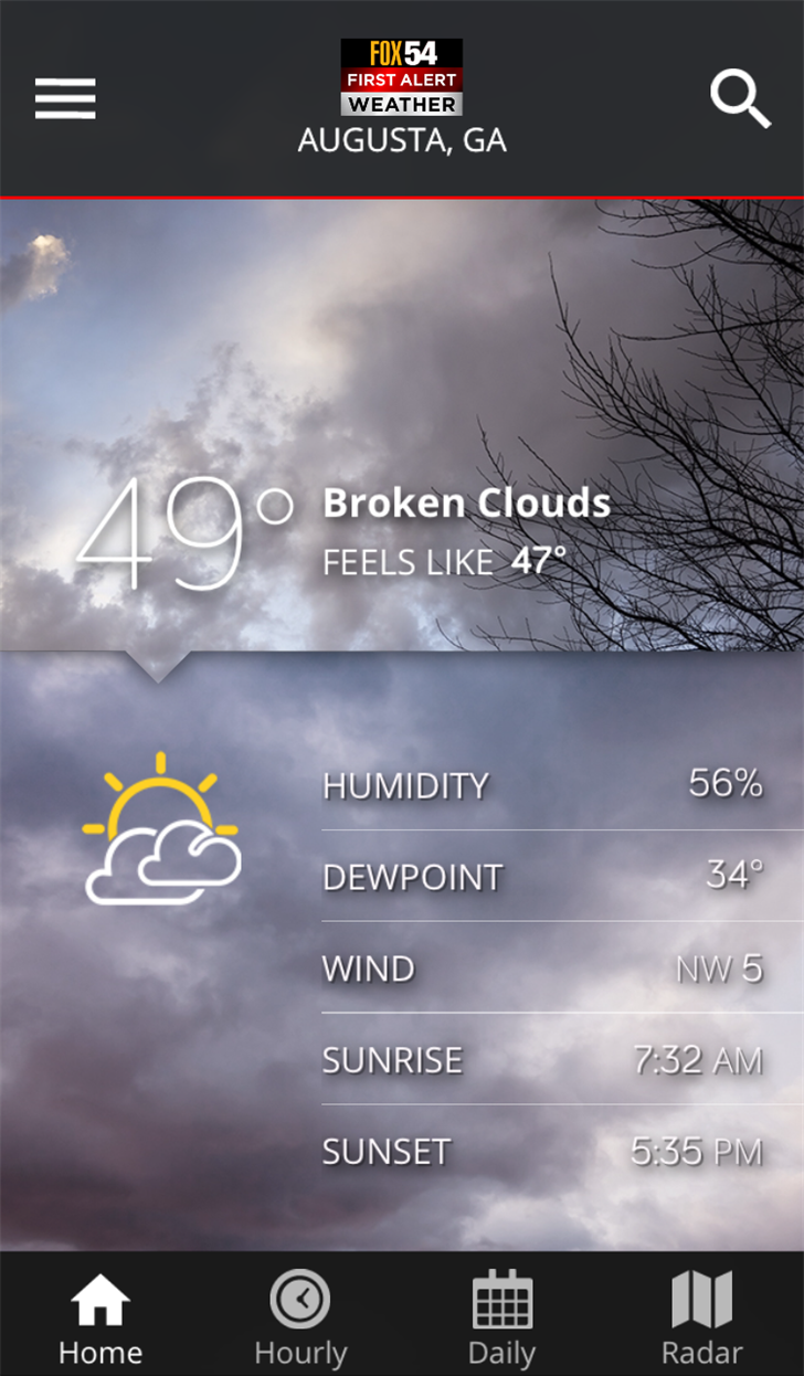 WFXG First Alert Weather App