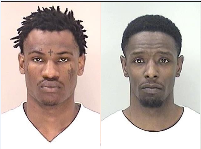 Jaqwon Baker (left) and Brodrick Merritt (Source: Richmond Co. Sheriff's Office)