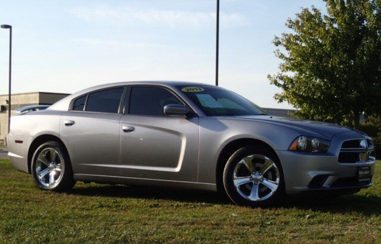 silver Dodge Charger (Source: Grovetown Dept. of  Public Safety)