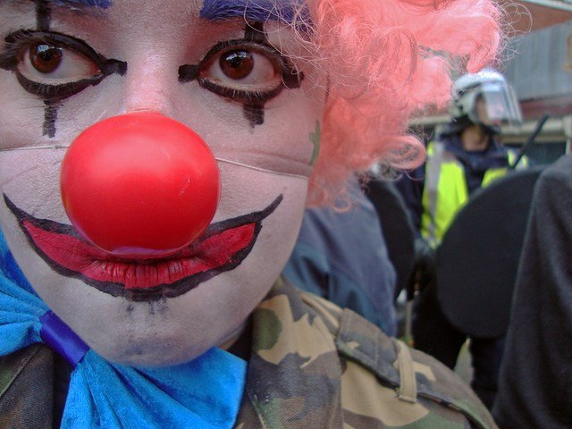 Photo of a clown (Karen Ellot / Flickr)