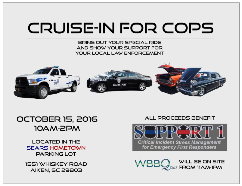 Cruise-In For Cops; Source: Aiken County Sheriff's Office