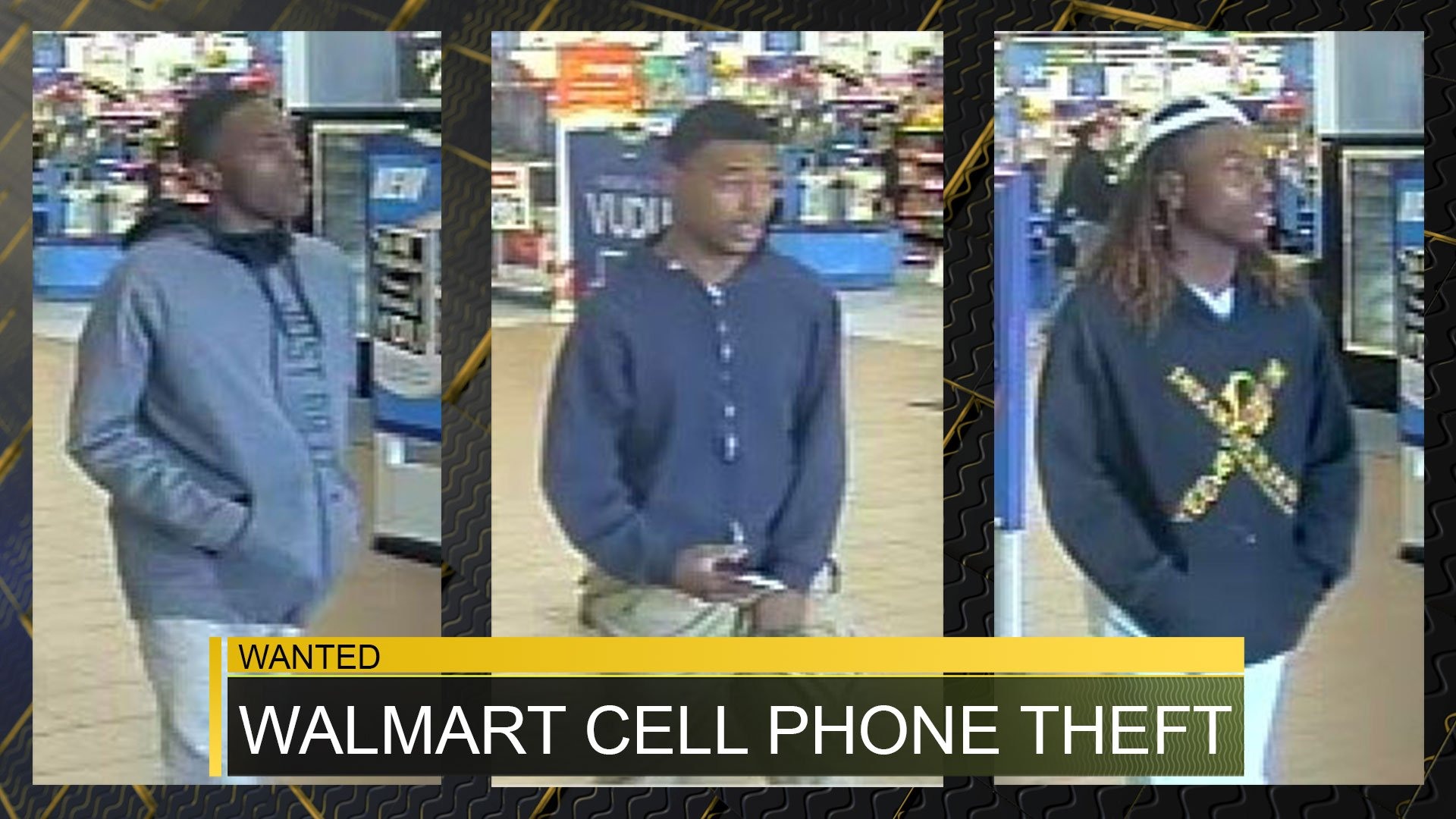 3 wanted for stealing mobile phones from bobby jones walmart fox bobby jones expressway walmart mobile phone theft suspects source columbia county sheriff s office