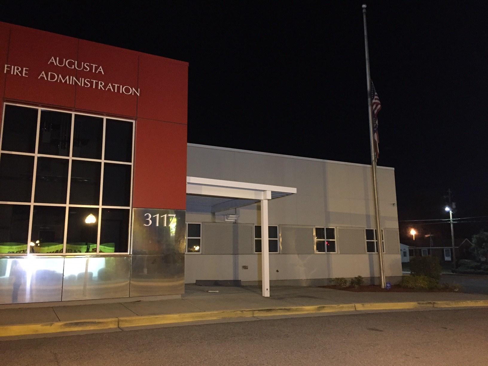 Augusta Fire Department headquarters flag flown at half mast (WFXG)
