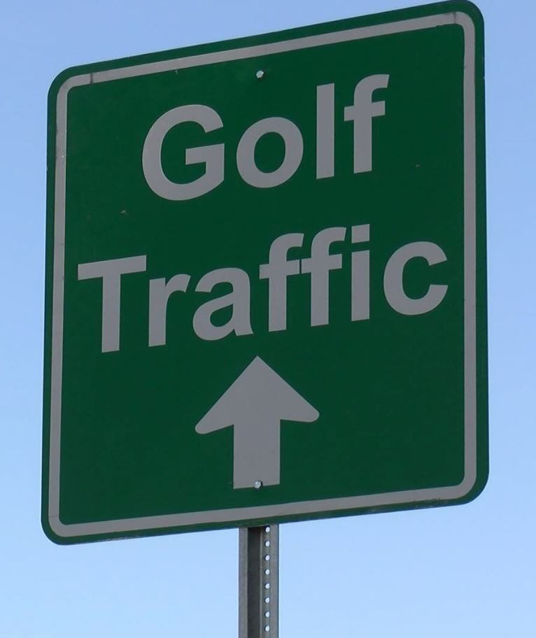 Signs went up on Wheeler Road today a couple of weeks ahead of the most prestigious major in golf; WFXG.