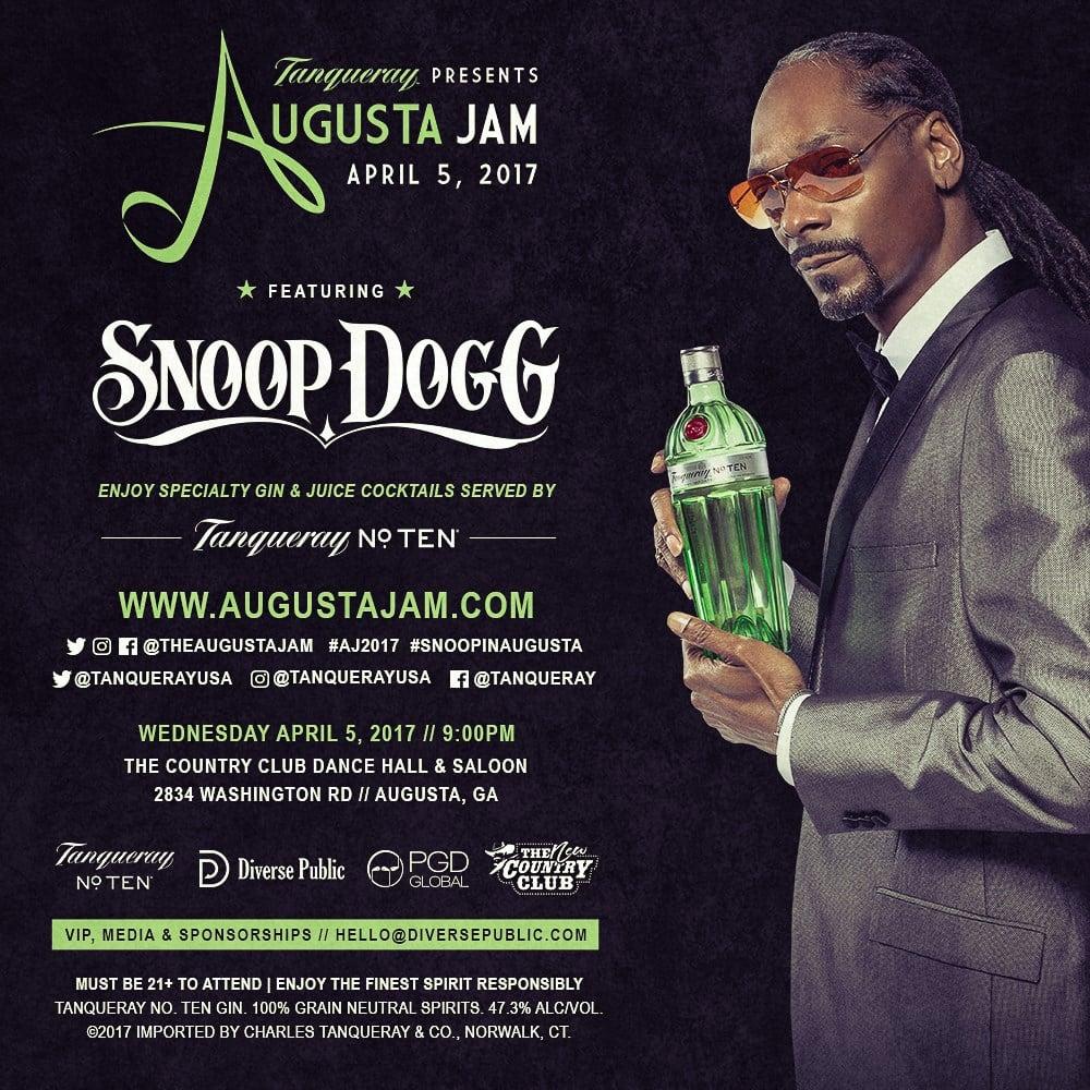 Snoop Dogg headlining Augusta Jam; Augusta Jam