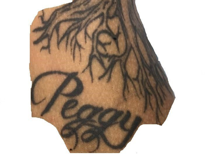Tattoo located at the bottom of tattoo #2 on victim's left arm (source: Richmond County Sheriff's Office)