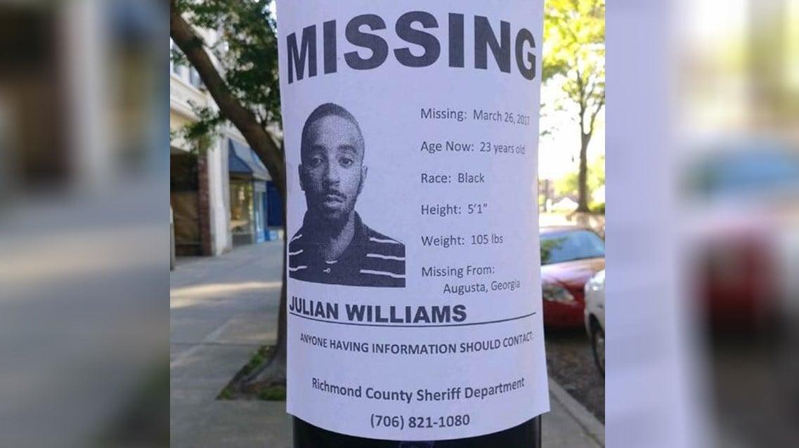 Julian Williams' family is still hopeful for his return (Williams Family)