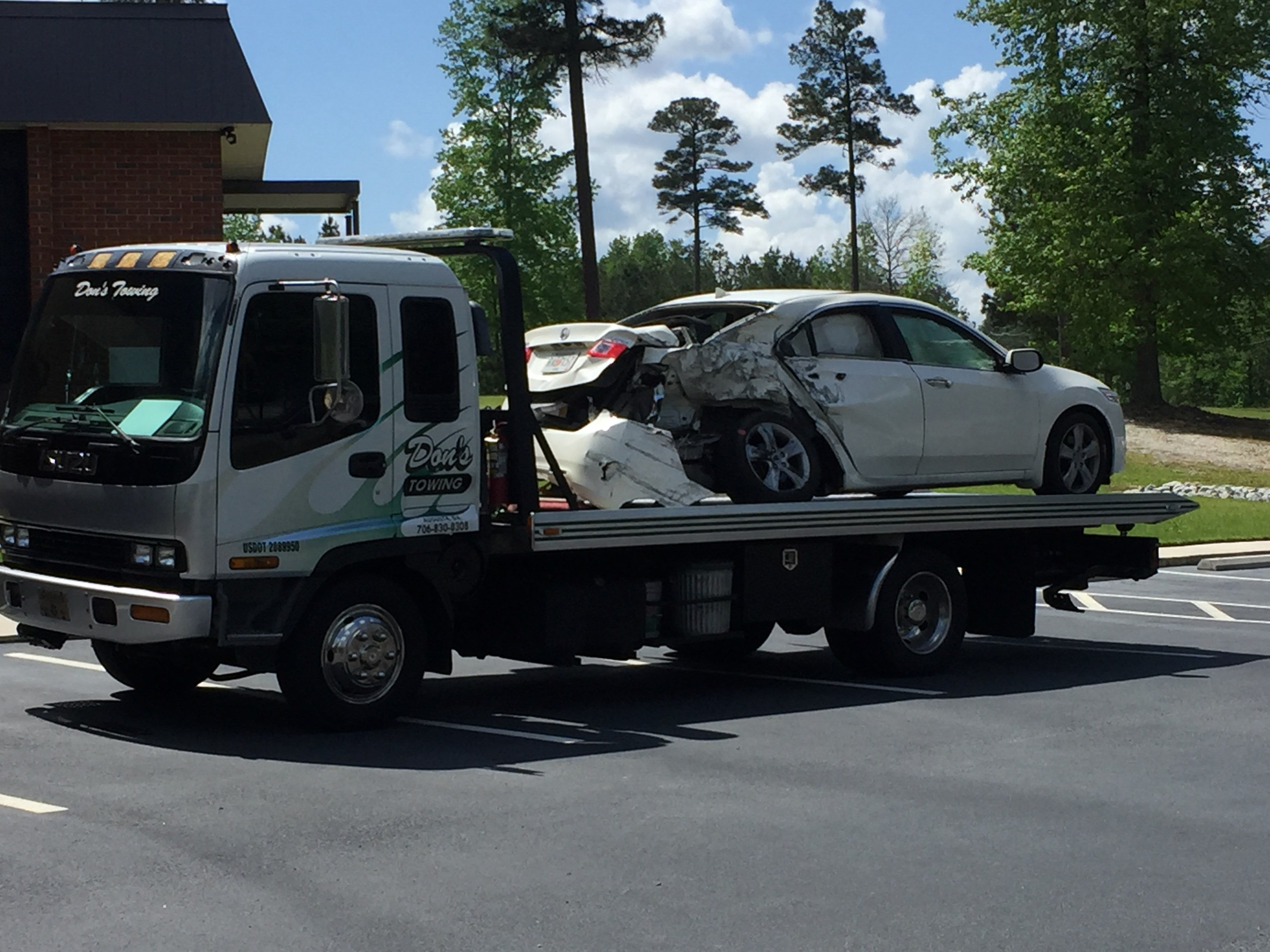 Deadly collision on Wrightsboro Rd. in Grovetown 4/20/17 (WFXG)