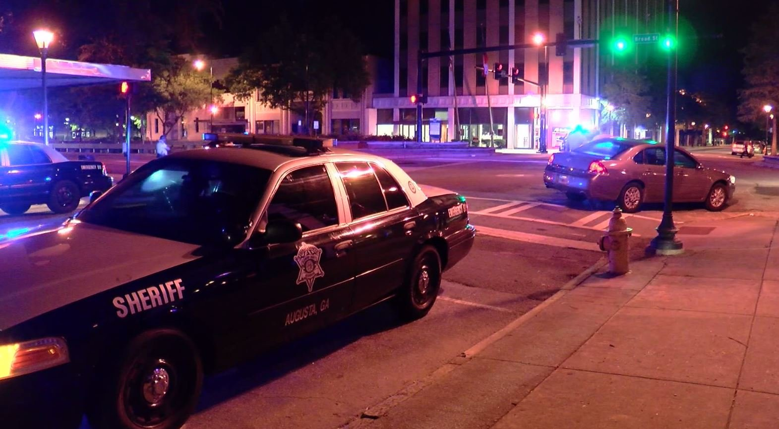Stabbing at 8th & Broad (Source: WFXG)