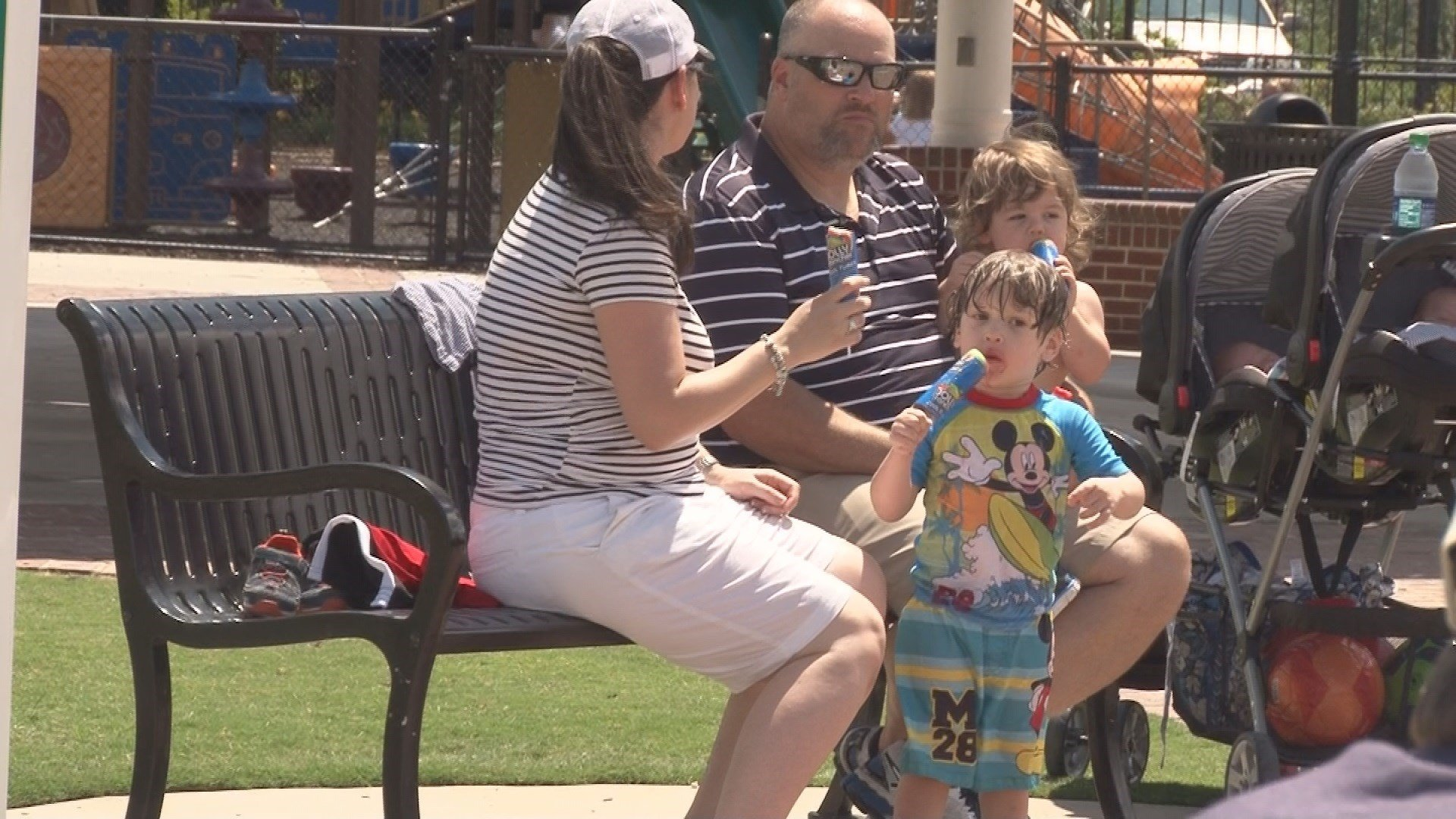 Families celebrate Father's Day at Evans Towne Center Park (wfxg)