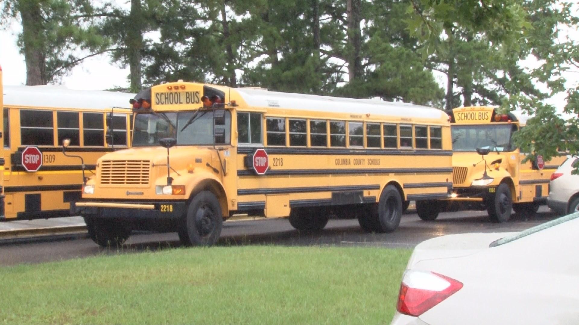 Columbia county school buses (WFXG)