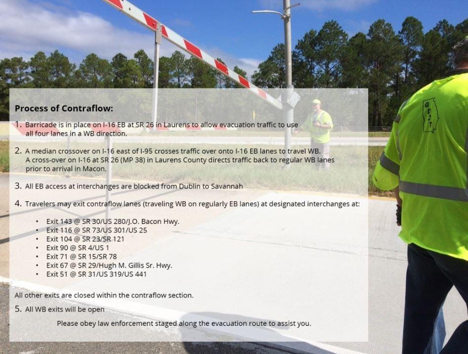 I-16 Contraflow (Source: Gov. Deals Communication Office)