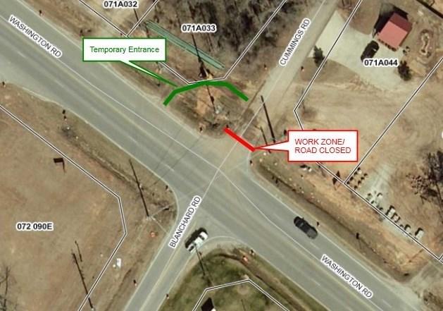 Cummings Rd. closure 9/13/17 (source: Columbia County)