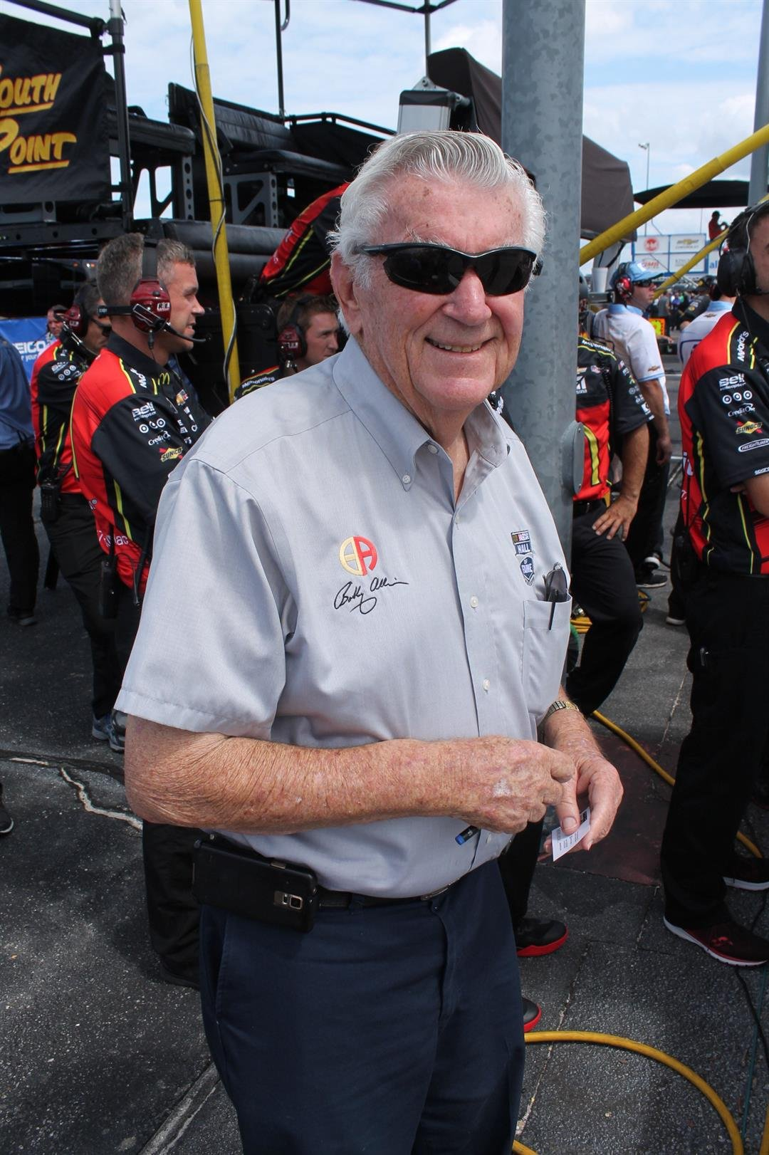 1983 NASCAR Champion Bobby Allison,  will be in attendance to honor his brother Donnie Allison, who is being inducted into the Hall of Fame. Darlington 2017. (source: Doug Allen)