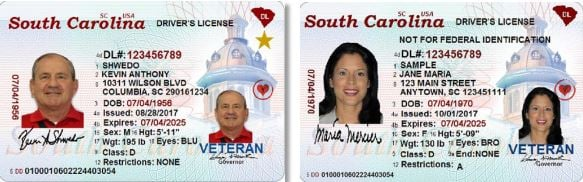 REAL ID images; Source: South Carolina Department of Motor Vehicles