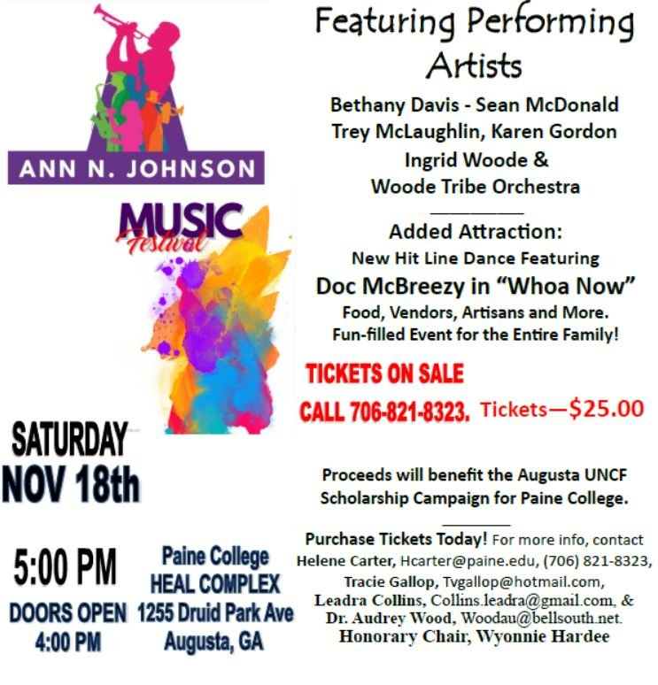 Paine College Music Fest; Source: Paine College