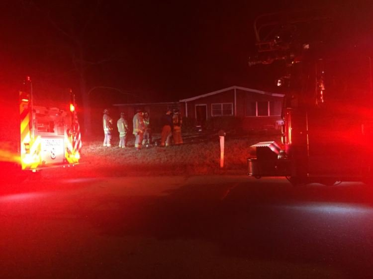 Fire on Evergreen Dr.; Source: WFXG