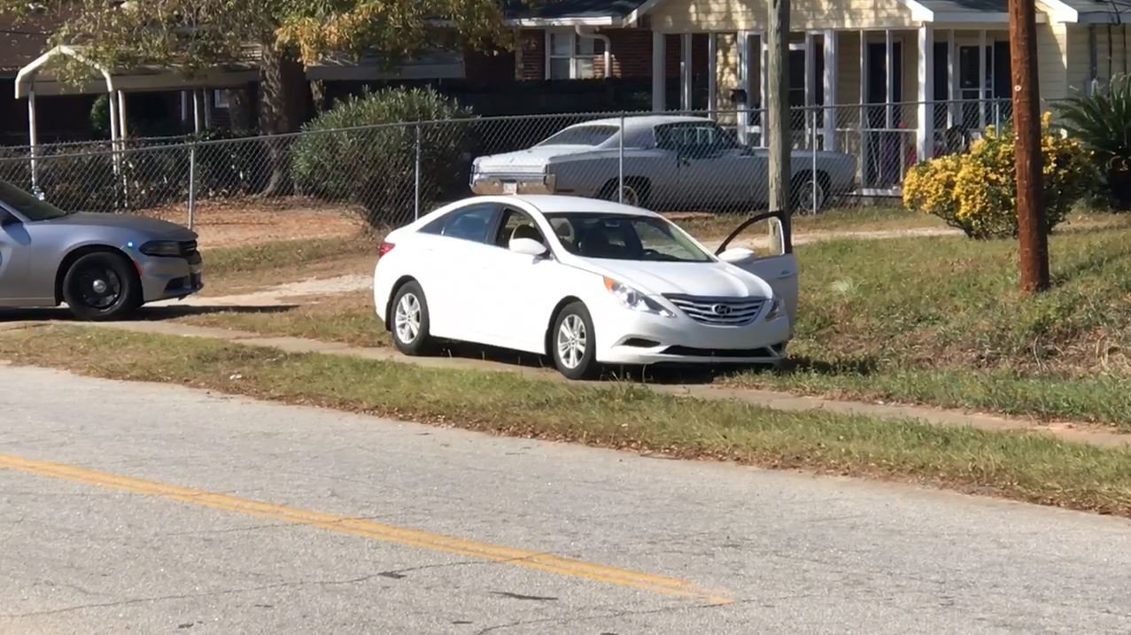 Car involved in chase 11/29/17 (WFXG)