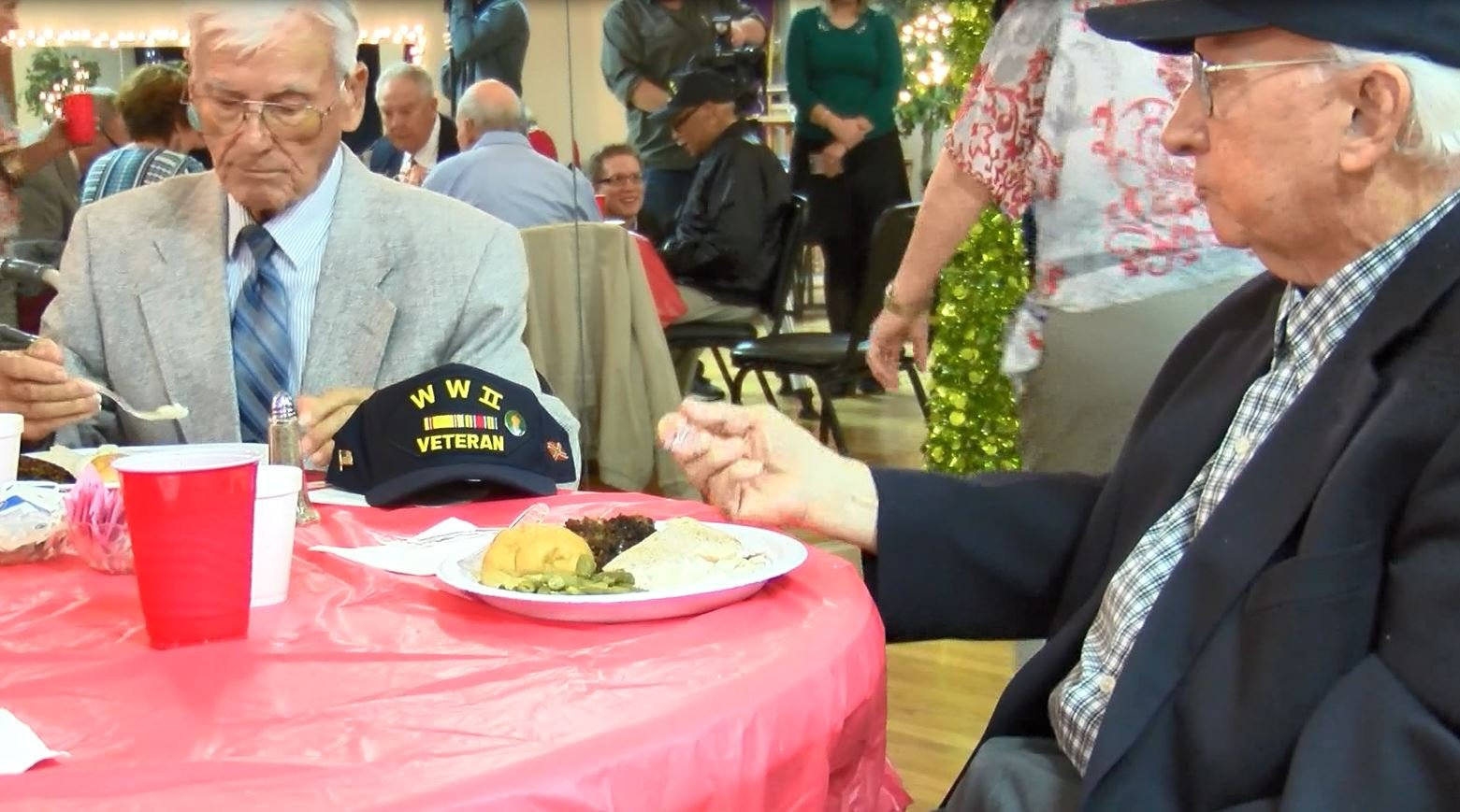 Dozens of veterans from both theaters of the war attneded the luncheon in 2016; WFXG.
