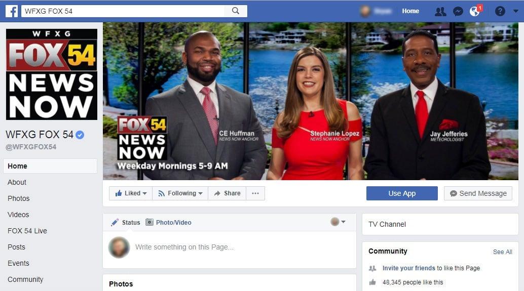 FOX 54 Facebook page (WFXG)