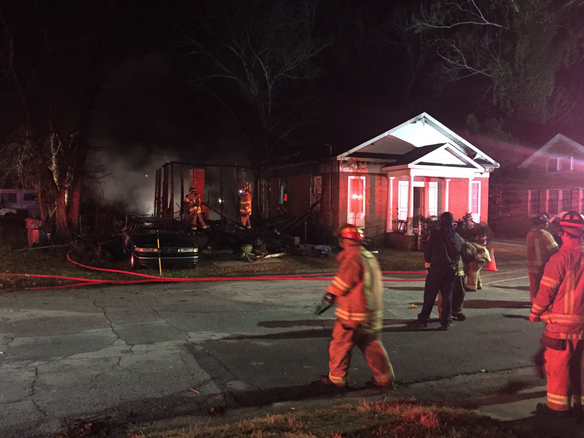 Burned home in Old Town where body was found 2/5/18 (WFXG)