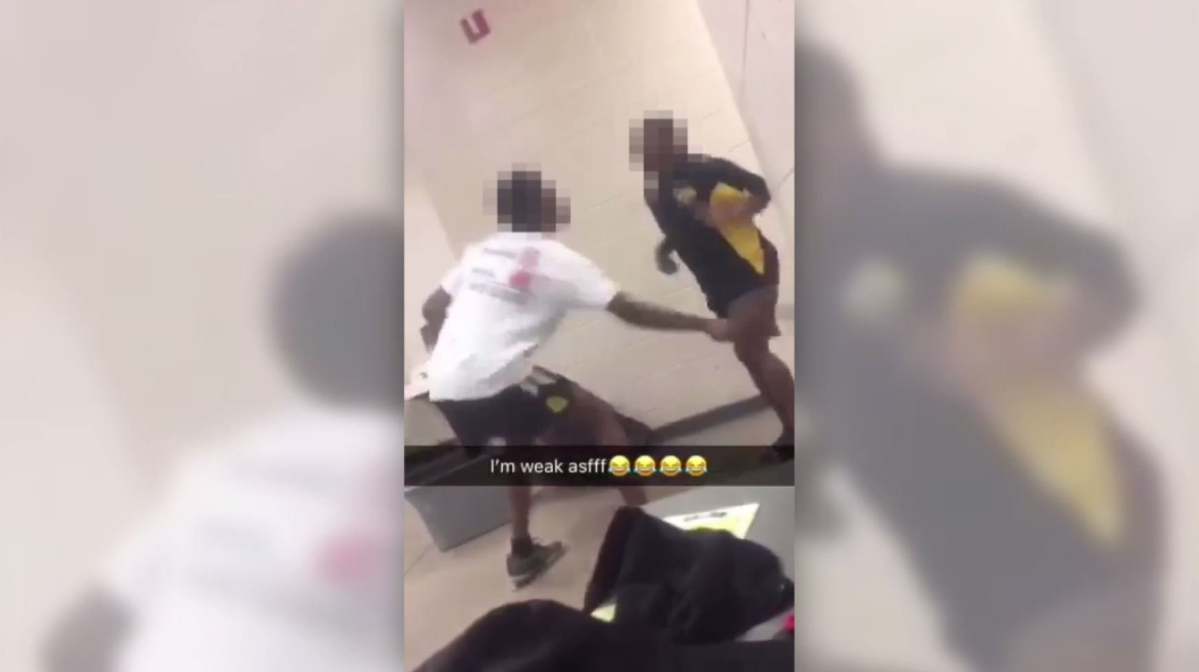 Screenshot from video of attack by Butler HS student
