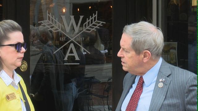 Congressman Joe Wilson visits Aiken to discuss President Trump's tax cuts. 2/12/18 (WFXG)