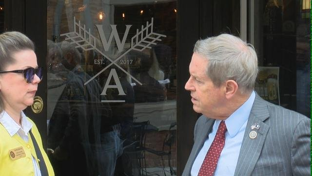 Congressman Joe Wilson visits Aiken to discuss President Trump's tax cuts. 2/12/18 (WFXG)