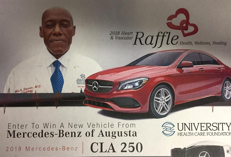 University hospital holds raffle for new mercedes benz to for Mercedes benz of augusta ga