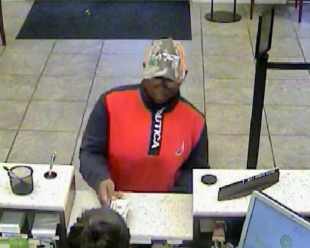 Regions Bank robbery suspect 3/1/18 (source: North Augusta Public Safety)