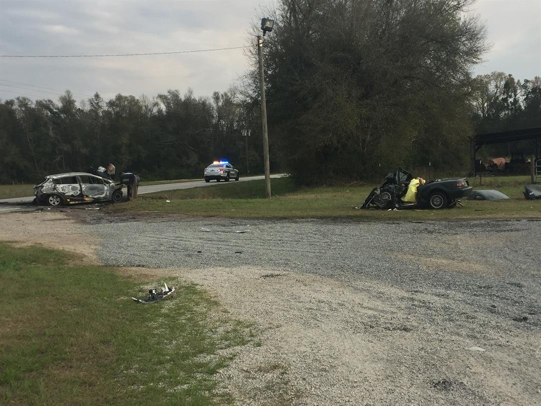 Crash on River Rd. at Hwy 80 in Burke County 3/5/18 (WFXG)