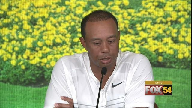 Tiger Woods at 2018 Masters press conference (source: Augusta National)