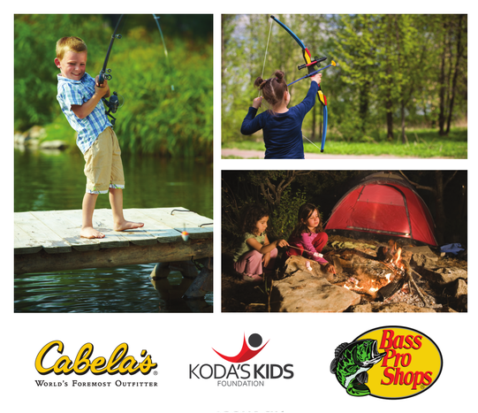 Youth outdoor event hosted by Koda's Kids Foundation