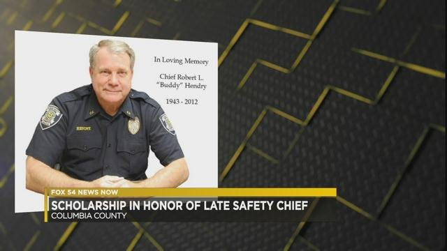 "Scholarship awarded honoring Chief Robert ""Buddy"" Hendry (WFXG)"