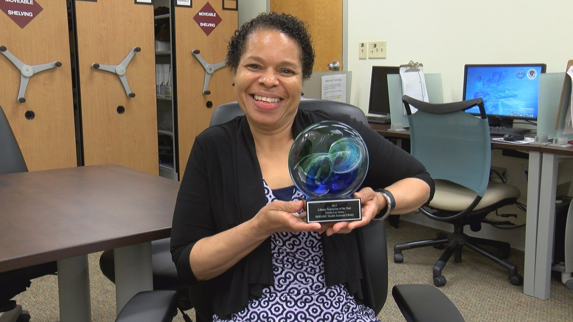 Ozella Gates, 2017 Library Technician of the Year (WFXG)