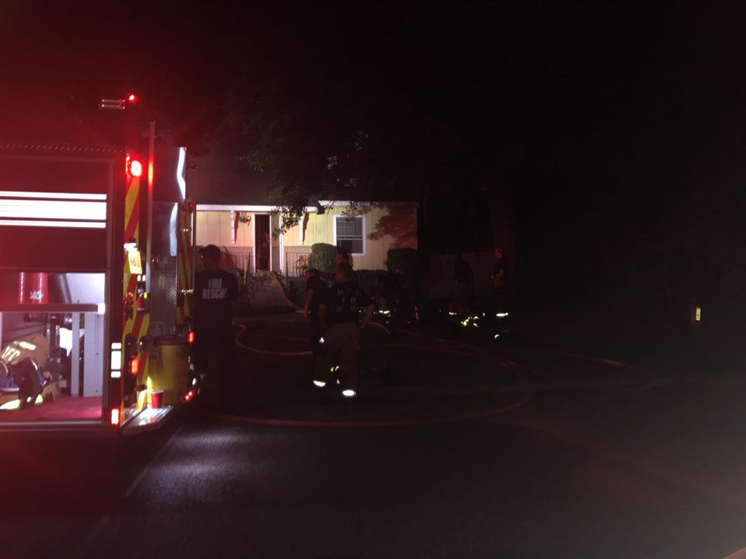 House fire on Ashley Dr. 6/8/18 (WFXG)