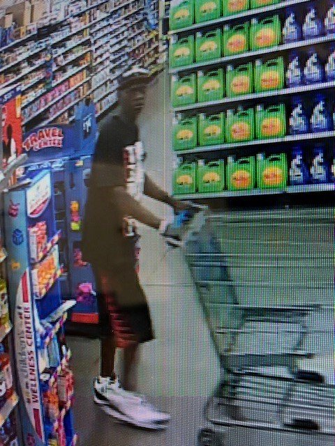 Suspect wanted for shoplifting at Walmart (Columbia County Sheriff's Office)