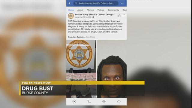 Burke County drug bust Facebook post (WFXG)