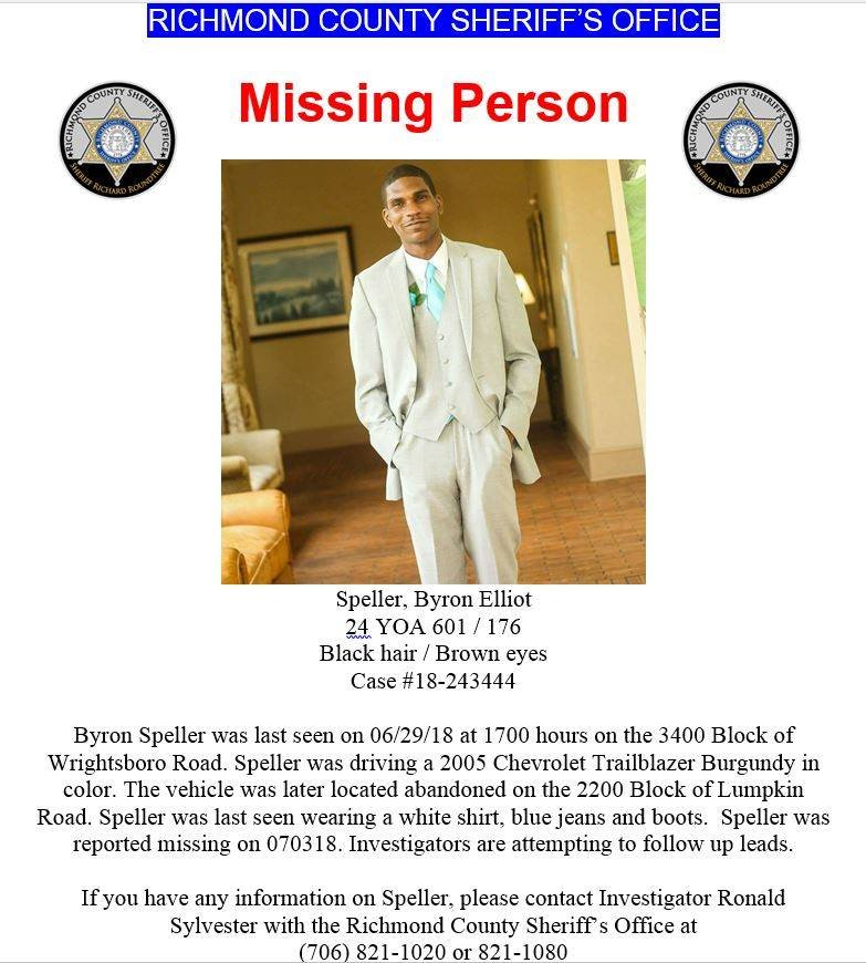 Bryon Speller has been missing for a week (Source: Richmond County Sheriff's Office)