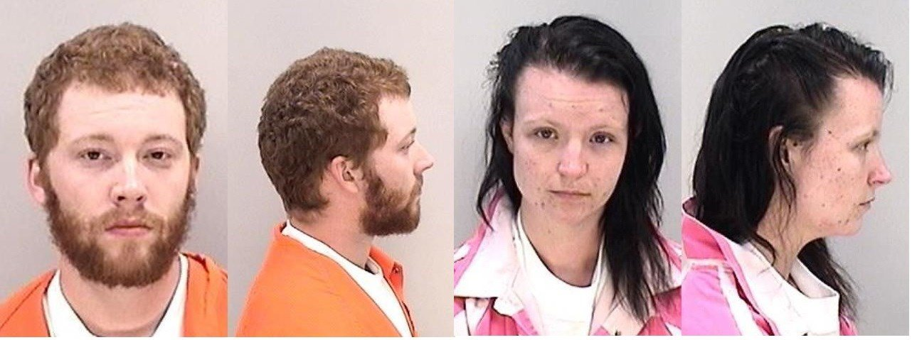 Justin Foss (left) and Shelby Foss (right) are both charged with murder for the death of their son.