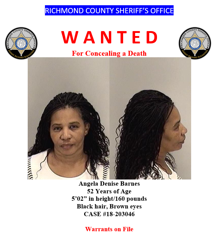 Angela Barnes is Wanted (Source: RCSO)
