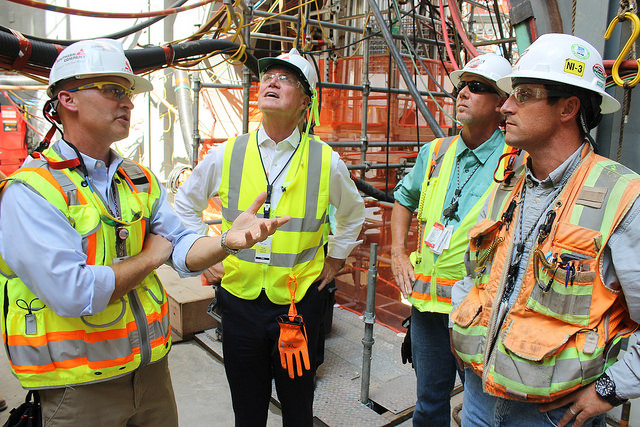 Senator David Perdue toured Plant Vogtle today (Source: Senator's Office)