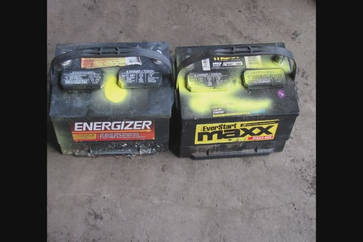 Example of marked batteries