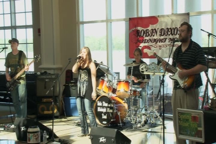 File photo: A band entertains Masters visitors at the Augusta Regional Airport. (Source: WFXG)