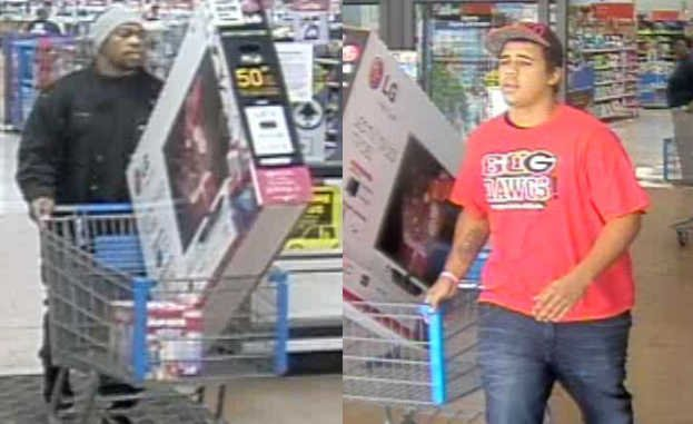 Deputies say these men stole Tvs from Walmart. (Source: RCSO)