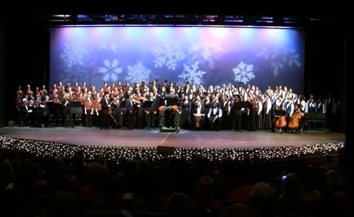 Davidson Fine Arts Magnet School chorus and dancers perform at a 2010 concert. (Source: YouTube)
