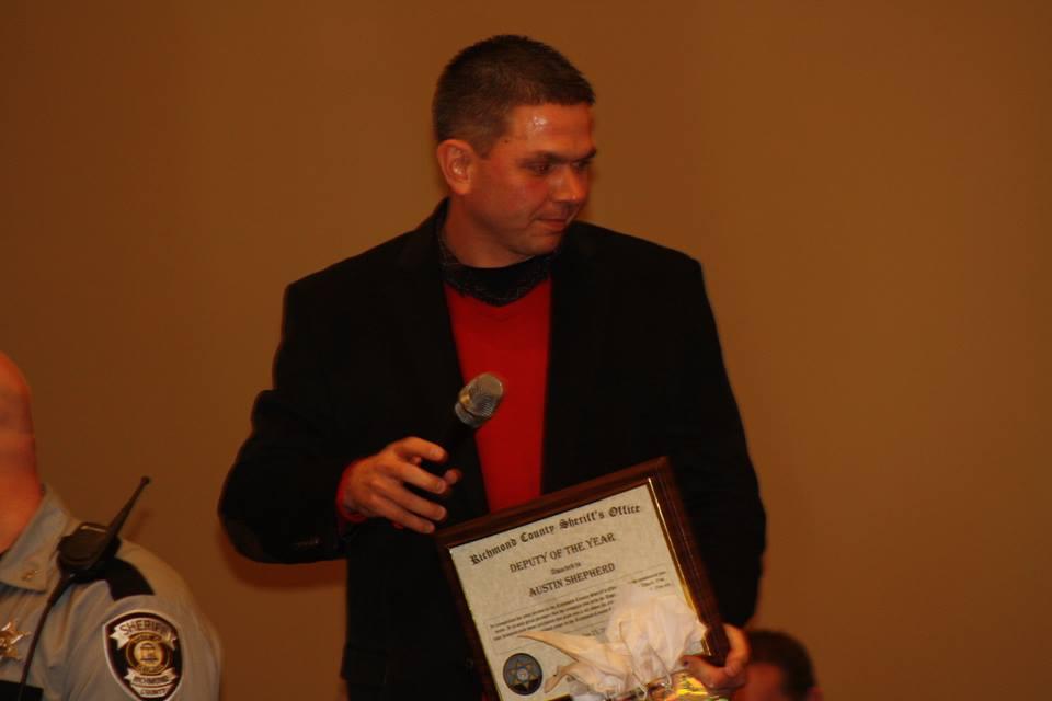 "Austin Shepherd received the ""Deputy of the Year"" award last week. (Source: Richmond Co. Sheriff's Office)"