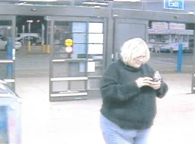 Deputies said this woman left Walmart in the same car as the two people who used the stolen credit cards. (Source: Richmond Co. Sheriff's Office)