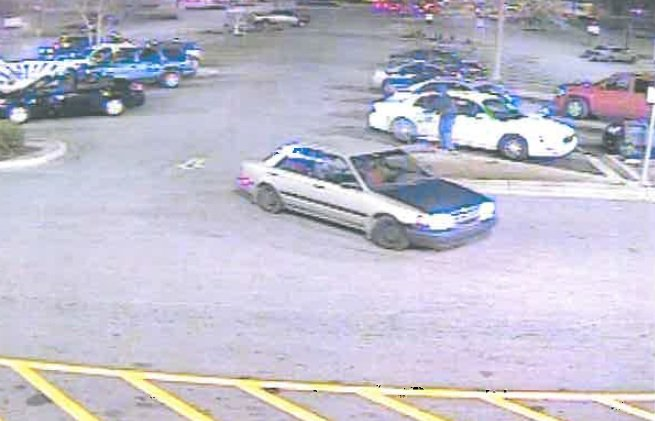 Deputies said the four people left Walmart driving this car. (Source: Richmond Co. Sheriff's Office)